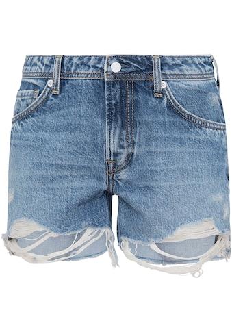 Pepe Jeans Jeansshorts »THRASHER DESTROYED«, stark destroyed in enger 5-Pocket-Passform kaufen