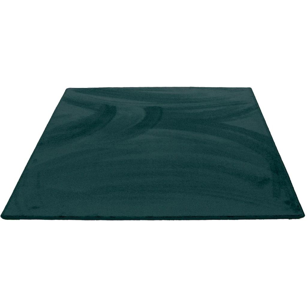 Living Line Teppich »Sweety eckig«, rechteckig, 15 mm Höhe, Soft Touch Velours, Wohnzimmer
