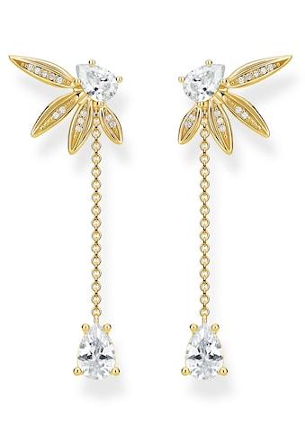 THOMAS SABO Paar Ohrstecker »Blätter mit Kette gold, H2105 - 414 - 14« kaufen