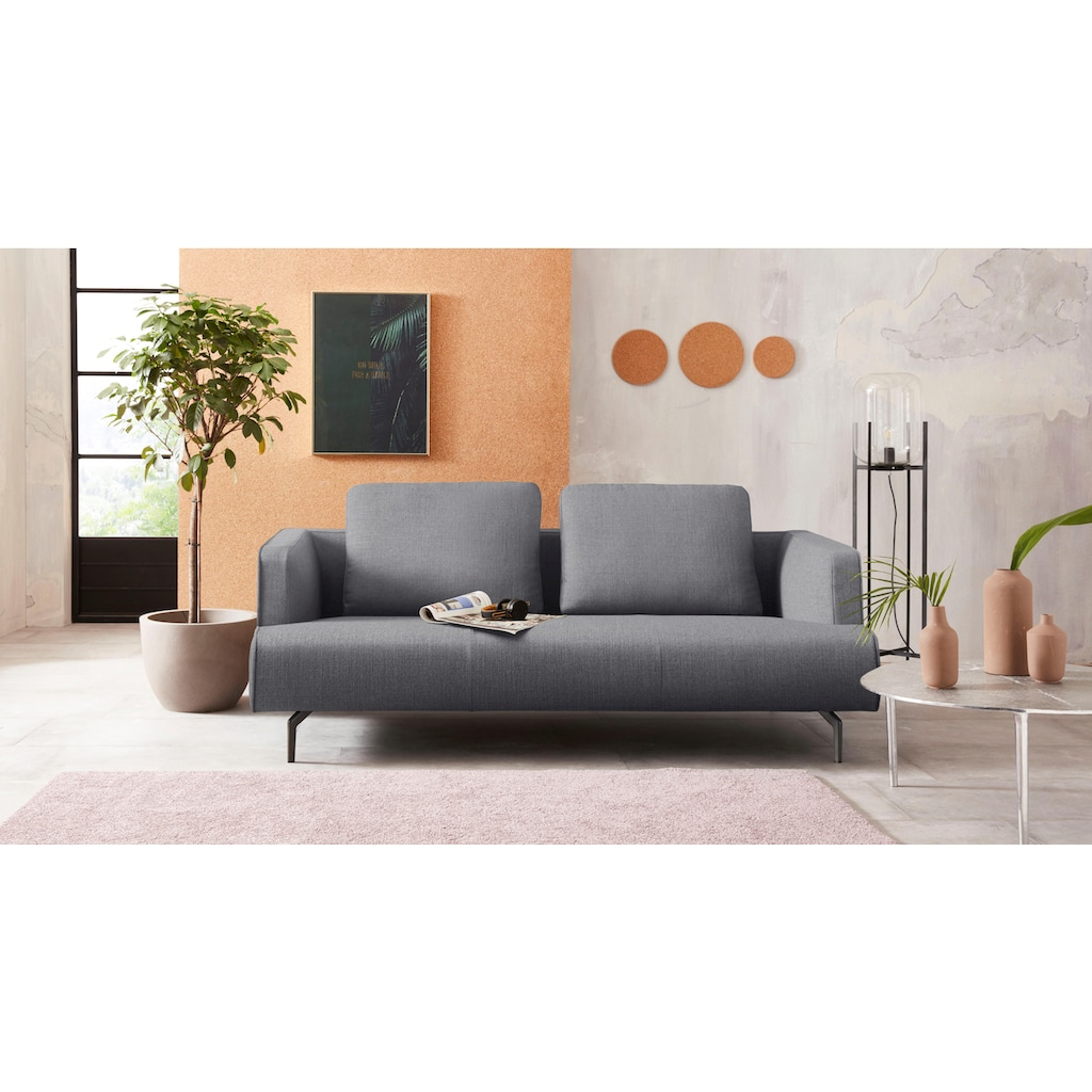 hülsta sofa 3,5-Sitzer »hs.440«, wahlweise in Stoff oder Leder, Gussfüße umbragrau