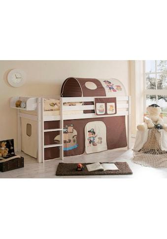 Ticaa Hochbett »Malte«, mit Rolllattenrost und Textil-Set kaufen