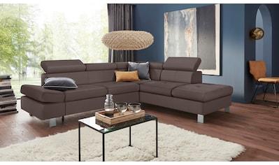 exxpo - sofa fashion Ecksofa, mit Kopf- bzw. Rückenverstellung, wahlweise mit... kaufen