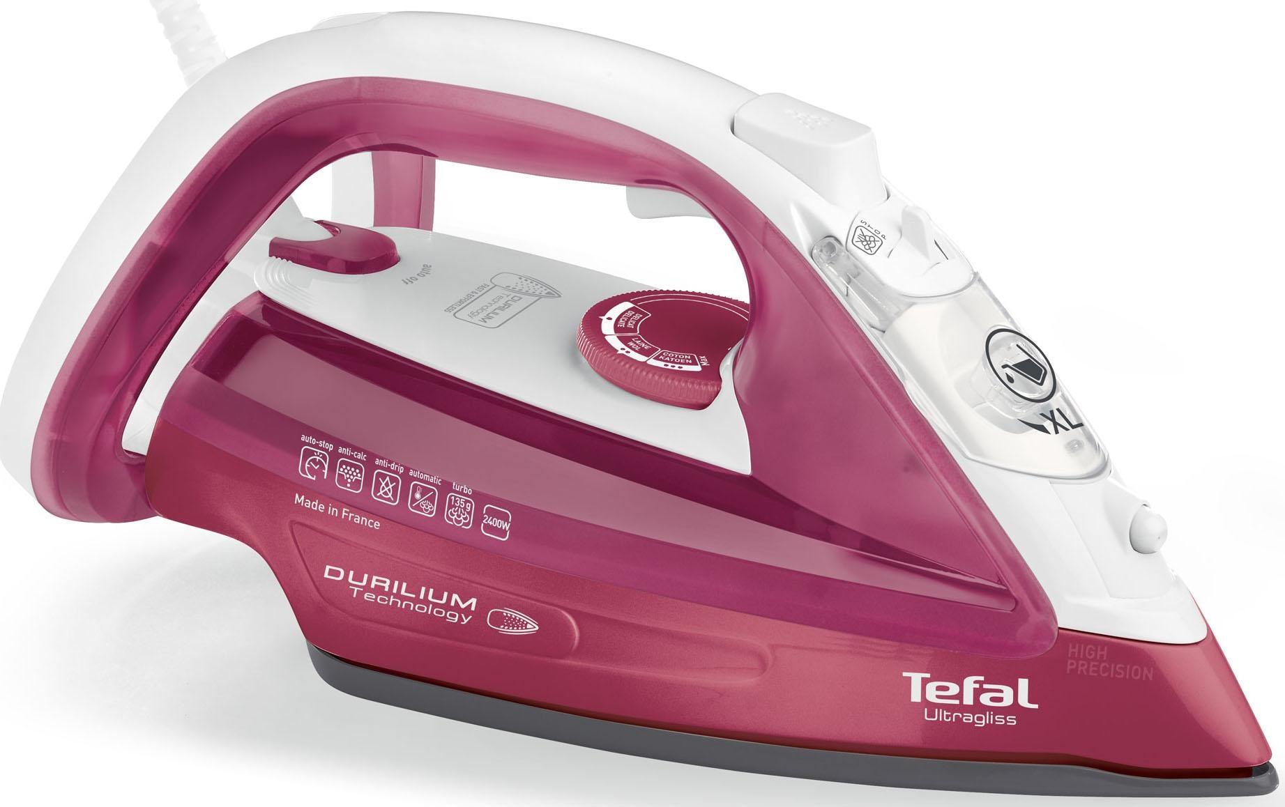 Tefal Dampfbügeleisen FV4920 Ultragliss, 2400 Watt | Flur & Diele > Haushaltsgeräte > Bügeleisen | Rot | Tefal