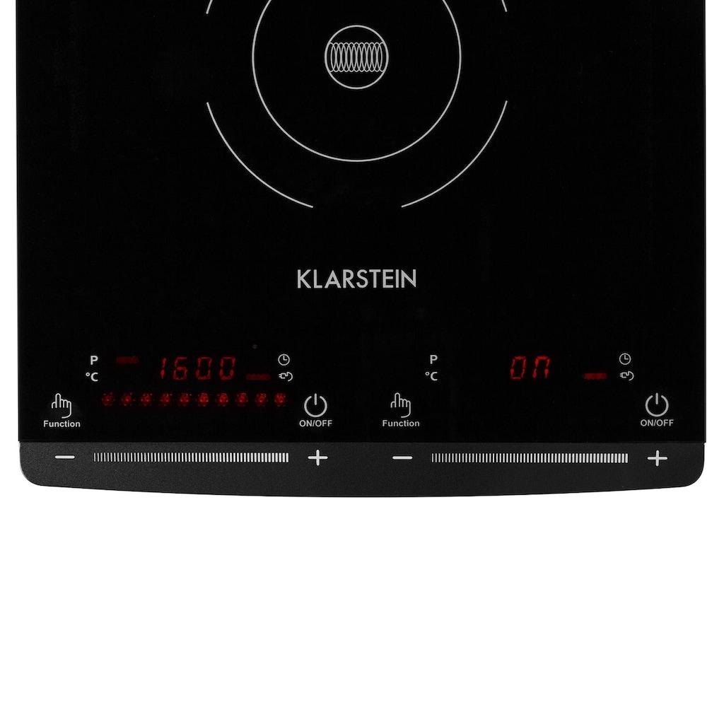 Klarstein Induktionskochfeld 2 Kochplatten 2900W 60-240° Celsius »Varicook-Slim«