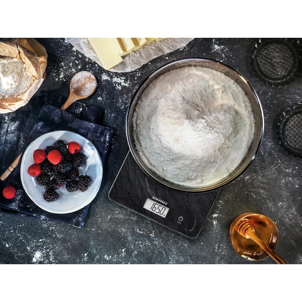Soehnle Küchenwaage »Page Compact 300 Slate«, Tragkraft 5 kg, 1 g genaue Teilung