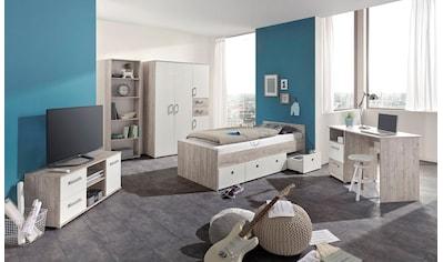 arthur berndt Jugendzimmer-Set »Bente«, (Set, 5 tlg., Bett + 4 trg. Schrank + Schreibtisch + Standregal + Lowboard) kaufen