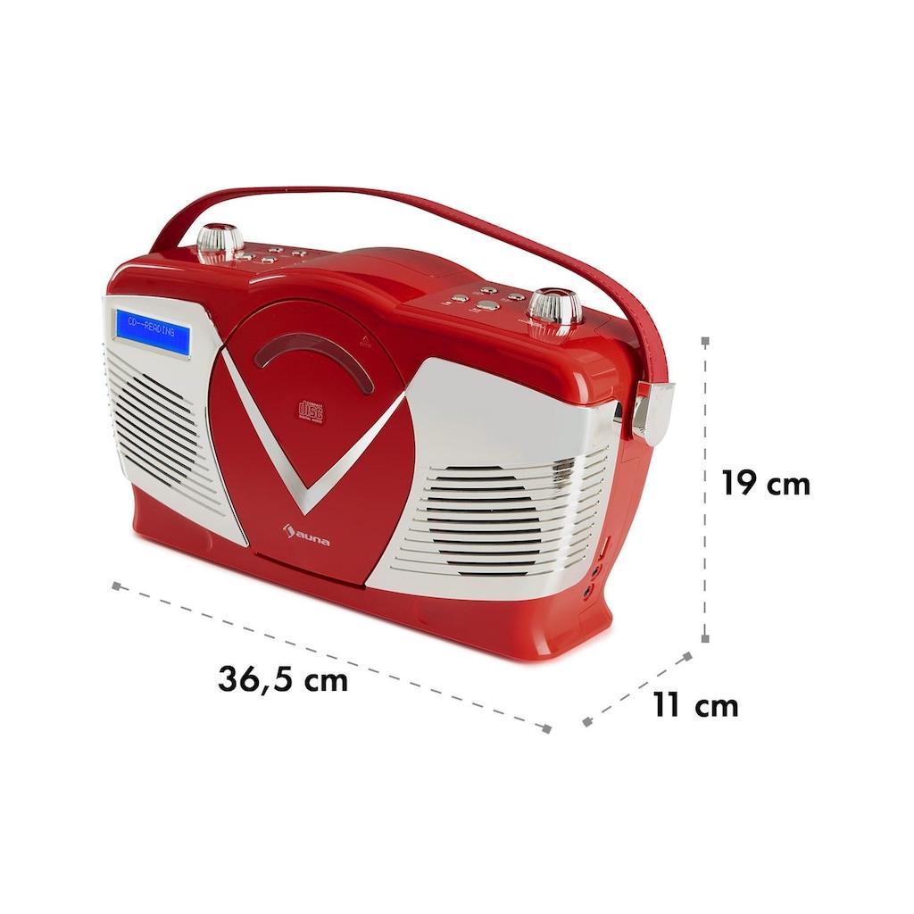 Auna auna RCD-70 DAB Retro CD-Radio UKW DAB+ CD-Player USB Bluetooth »RCD70«