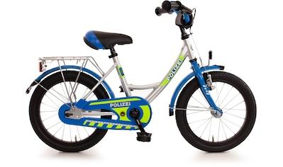 """Bachtenkirch Kinderfahrrad »Kinderfahrrad """"Polizei"""", blau/silber/neon - gelb«, 1 Gang kaufen"""