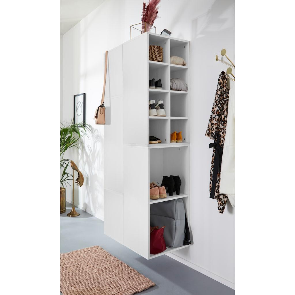 INOSIGN Schuhregal »Fricka«, mit einer schönen Holzfolien Optik, Stauraum für ca. 16 Paar Schuhe, Höhe 84,5 cm