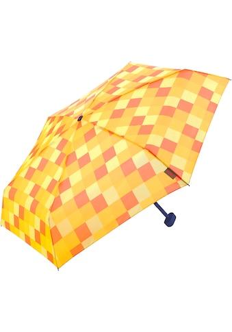 Euroschirm Taschenregenschirm »Dainty, Karo gelb orange« kaufen