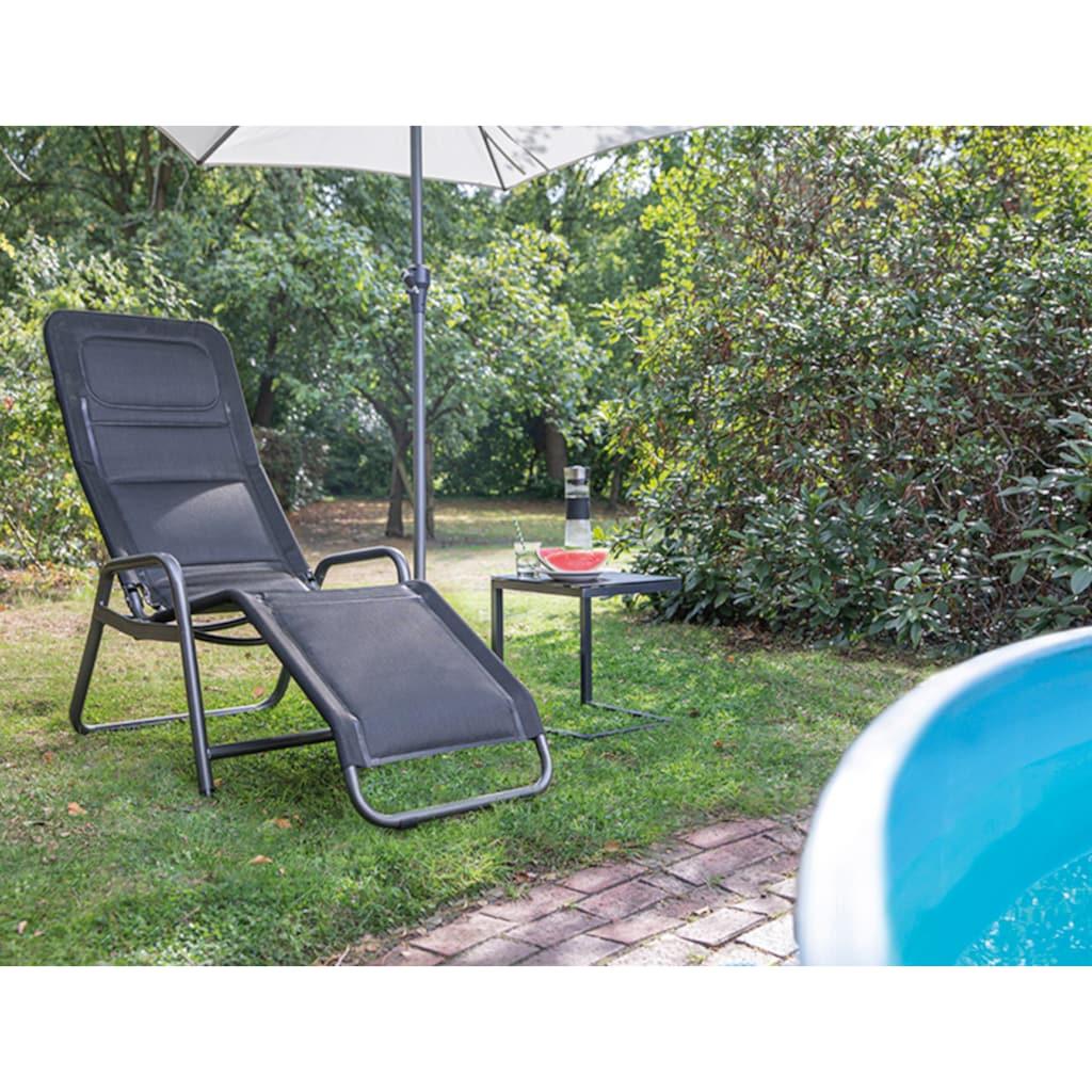 Siena Garden Gartenliege »Bito«, Stahl/Textil, verstellbar, inkl. Auflage