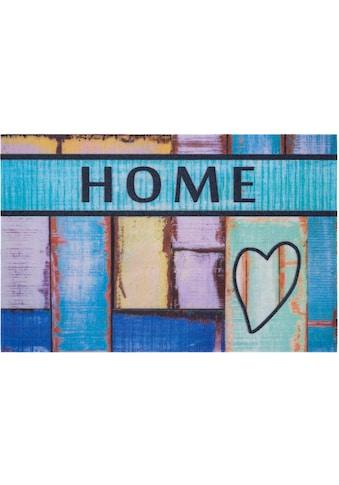 Home affaire Fußmatte »Home herz«, rechteckig, 6 mm Höhe, Schmutzmatte, mit Spruch,... kaufen