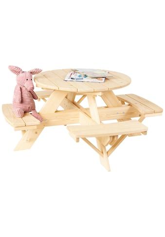 Pinolino® Kindersitzgruppe »Nicki«, Fichte natur, ØxH: 114x50 cm kaufen