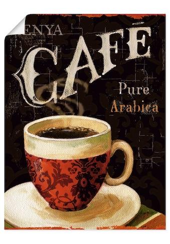 Artland Wandbild »Heutiger Kaffee I«, Getränke, (1 St.), in vielen Größen &... kaufen