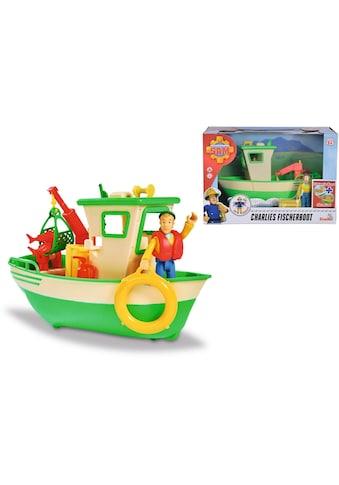 SIMBA Spielzeug-Boot »Feuerwehrmann Sam, Charlies Fischerboot«, mit Figur kaufen