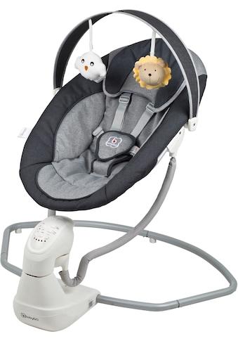 BabyGo Babywippe »Cuddly, anthracite«, bis 9 kg, elektrisch, mit Sound kaufen