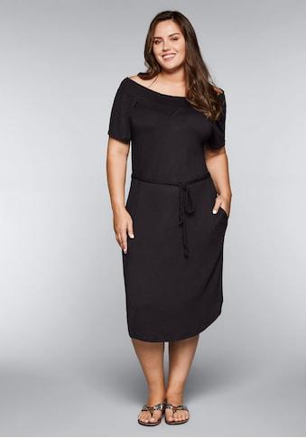 Sheego Strandkleid, mit Bindeband und Carmenausschnitt kaufen