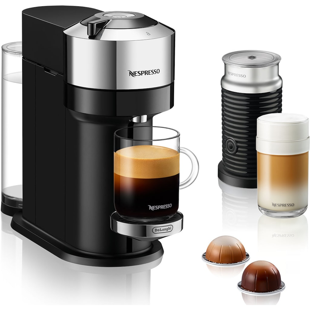 Nespresso Kapselmaschine »ENV 120.CAE Vertuo Next Deluxe«, inkl. Aeroccino Milchaufschäumer, chrom