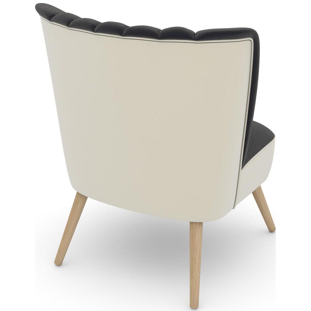 Max Winzer® Sessel »build-a-chair Aspen«, im Retrolook, zum Selbstgestalten