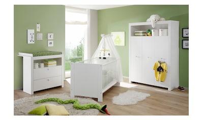 Babyzimmer-Komplettset »Trend«, (Set, 3 St.), Bett + Wickelkommode + 3 trg. Schrank kaufen