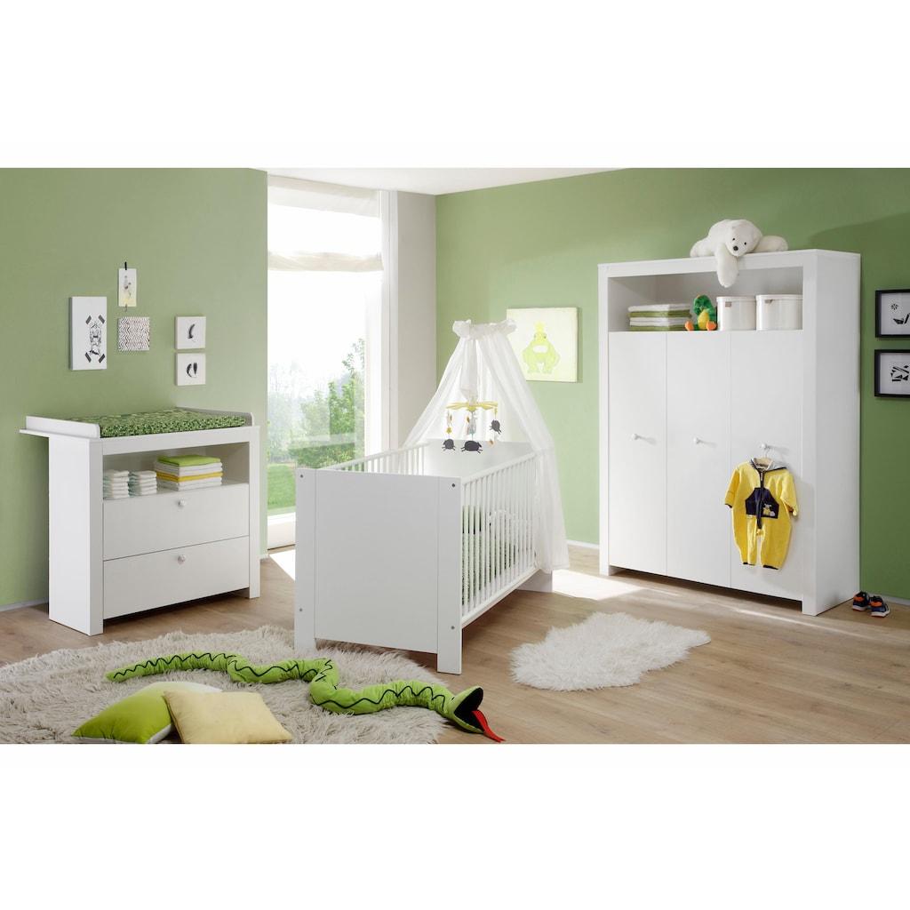 Babyzimmer-Komplettset »Trend«, (Set, 3 tlg.), Bett + Wickelkommode + 3 trg. Schrank