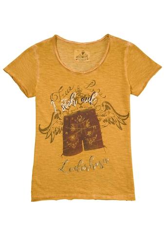 Hangowear Trachtenshirt Damen mit Lederhosen - Motiv und Schriftzug kaufen
