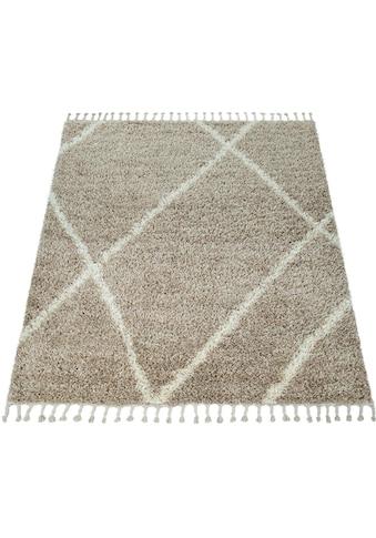 Hochflor - Teppich, »Helsinki 531«, Paco Home, rechteckig, Höhe 45 mm, maschinell gewebt kaufen