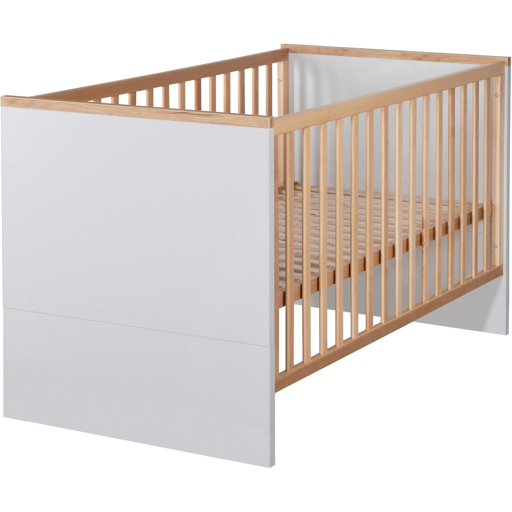 roba® Babyzimmer-Komplettset »Tobi«, (Set, 3 St.), mit Kinderbett, Schrank und Wickelkommode