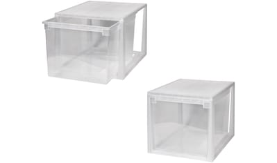 KREHER Aufbewahrungsbox »2x 50 Liter, mit Schubladen« 2er Set kaufen