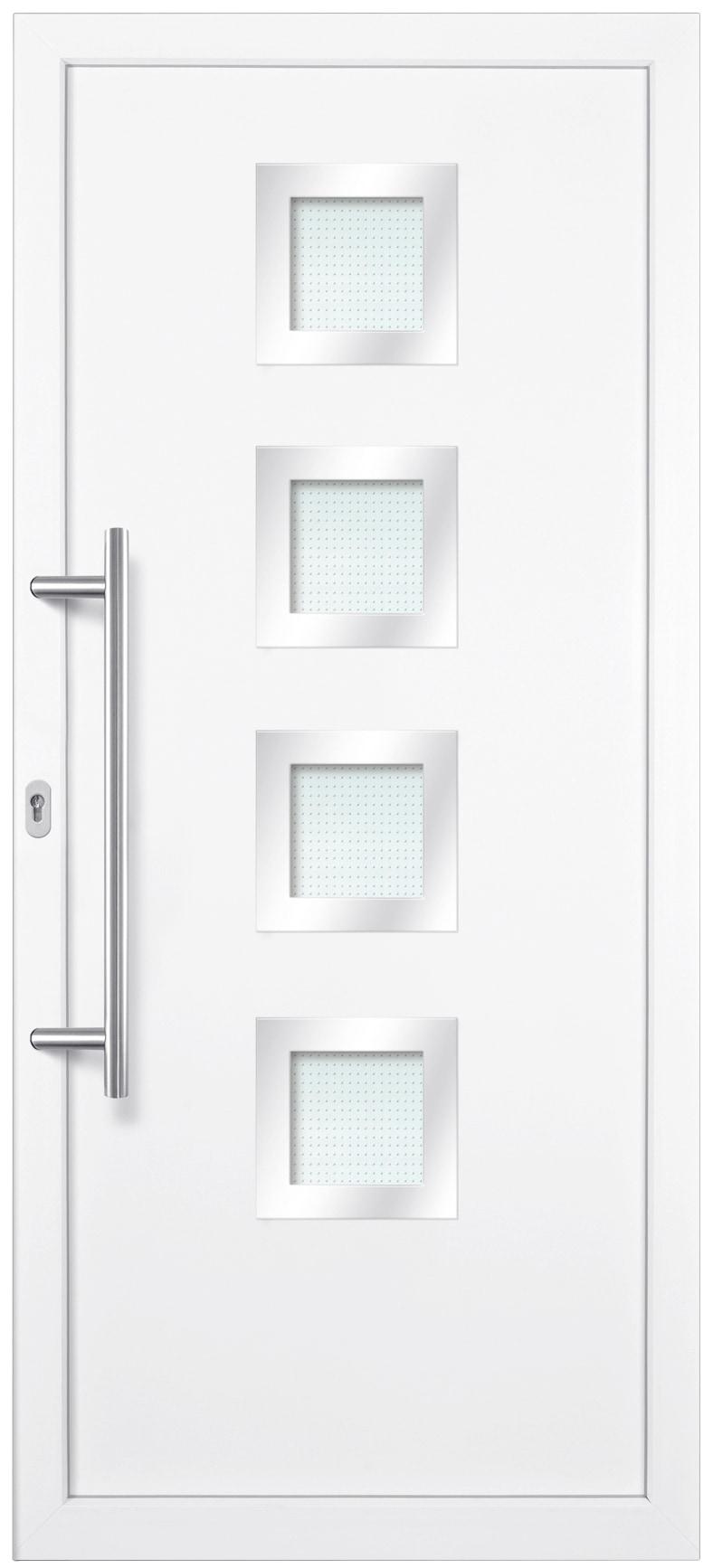 KM MEETH ZAUN GMBH Kunststoff-Haustür »KA635 S2«, nach Wunschmaß, Anschlag links | Baumarkt > Modernisieren und Baün > Türen | Weiß | Stahl - Kunststoff | KM MEETH ZAUN GMBH