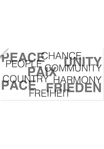 Artland Wandbild »Frieden Statement Bild« kaufen