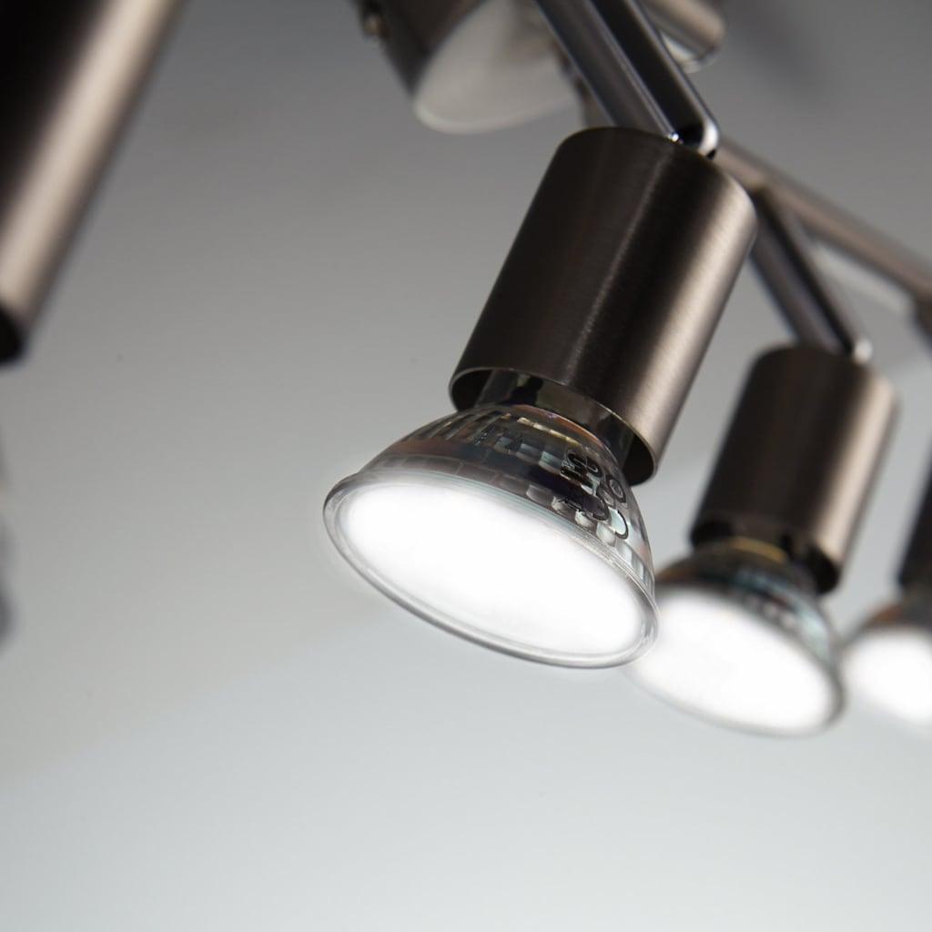B.K.Licht LED Deckenspots, GU10, Warmweiß, LED Deckenleuchte Strahler schwenkbar Inkl. 4 x 3W Leuchtmittel GU10 Spots Wohnzimmer Flur