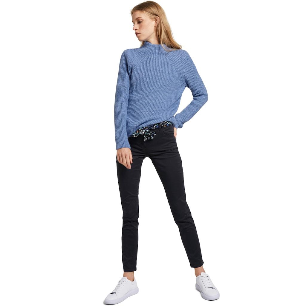 TOM TAILOR 5-Pocket-Hose »Alexa Slim«, (Set, mit Bindeband), mit buntem Bindegürtel aus Stoff