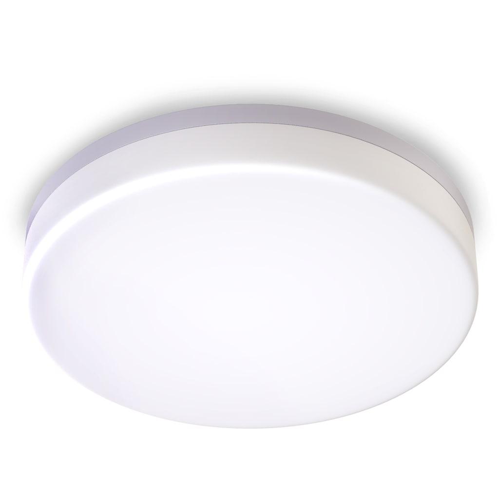 B.K.Licht LED Deckenleuchte, LED-Board, Neutralweiß, LED Deckenlampe LED 13W Bad-Lampen IP54 Badezimmer-Leuchte inkl. 13W 1500lm