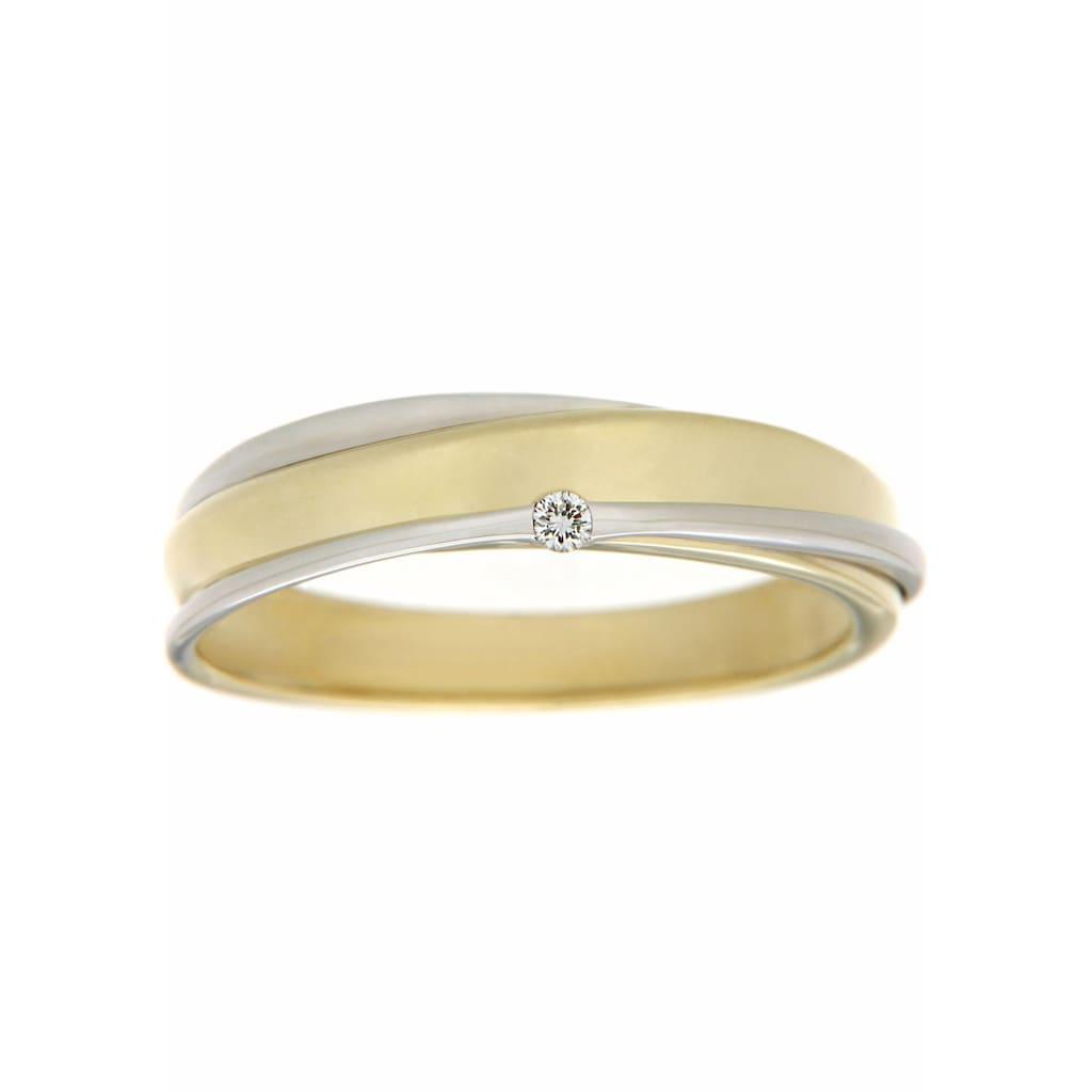 Firetti Diamantring »zweifarbig«, mit Brillant