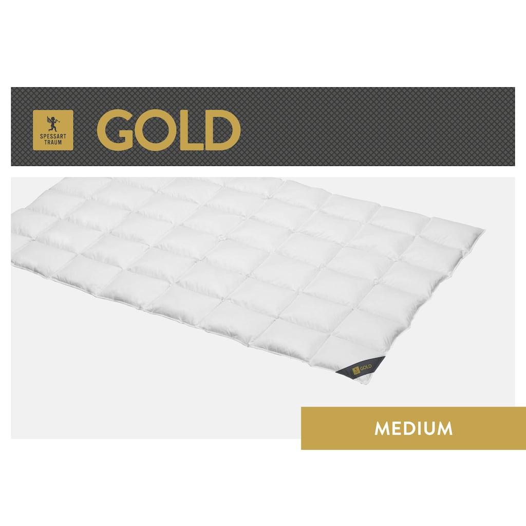 SPESSARTTRAUM Gänsedaunenbettdecke »Gold«, leicht, Füllung 100% Gänsedaunen, Bezug 100% Baumwolle, (1 St.), hergestellt in Deutschland, allergikerfreundlich