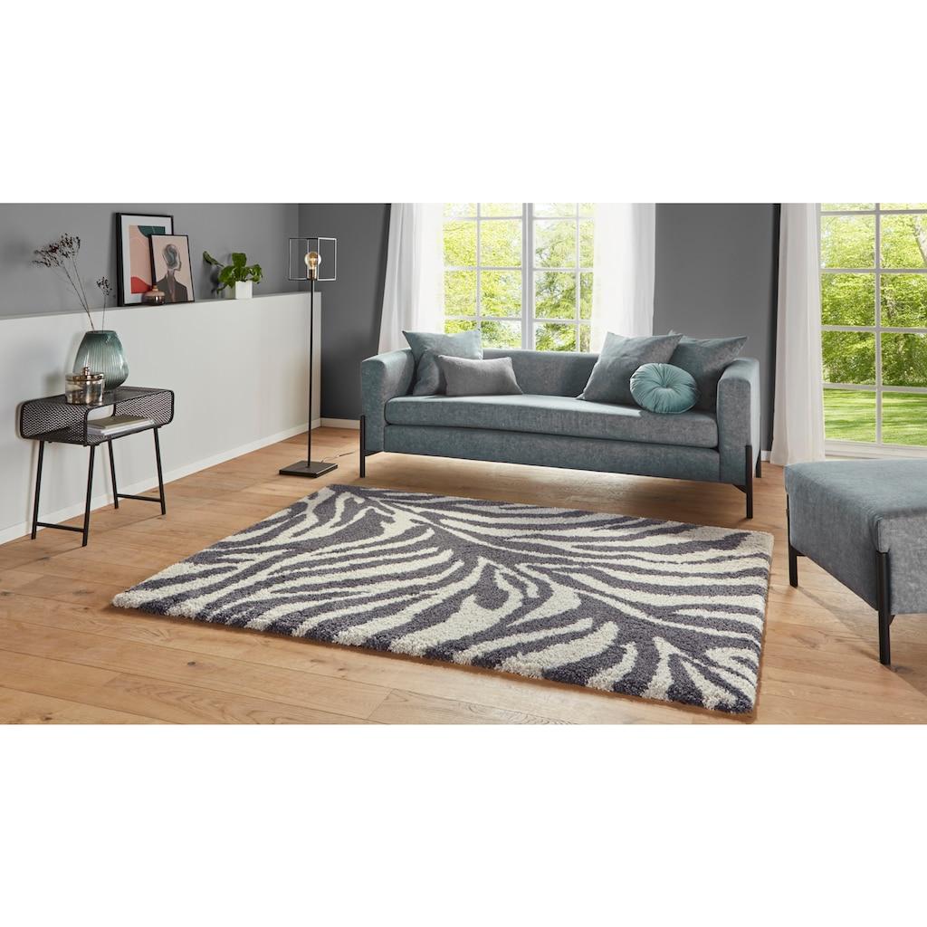 MINT RUGS Hochflor-Teppich »Desert«, rechteckig, 35 mm Höhe, besonders weich durch Microfaser, Wohnzimmer