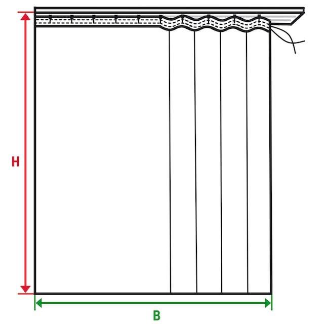 Vorhang, »Java«, Wirth, Kräuselband 1 Stück