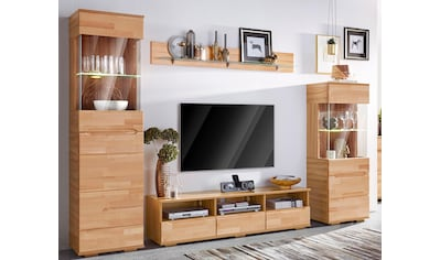 Woltra Wohnwand »Vetro«, (Set, 4 St.), teilmassives Holz kaufen