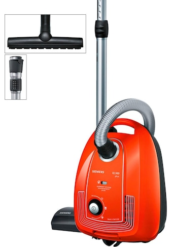 SIEMENS Bodenstaubsauger »Plus Limited Edition iQ300 VSP3AAAA, rot,«, 750 W, mit Beutel, Bodendüse für Parkett, Teppich, Fliesen kaufen