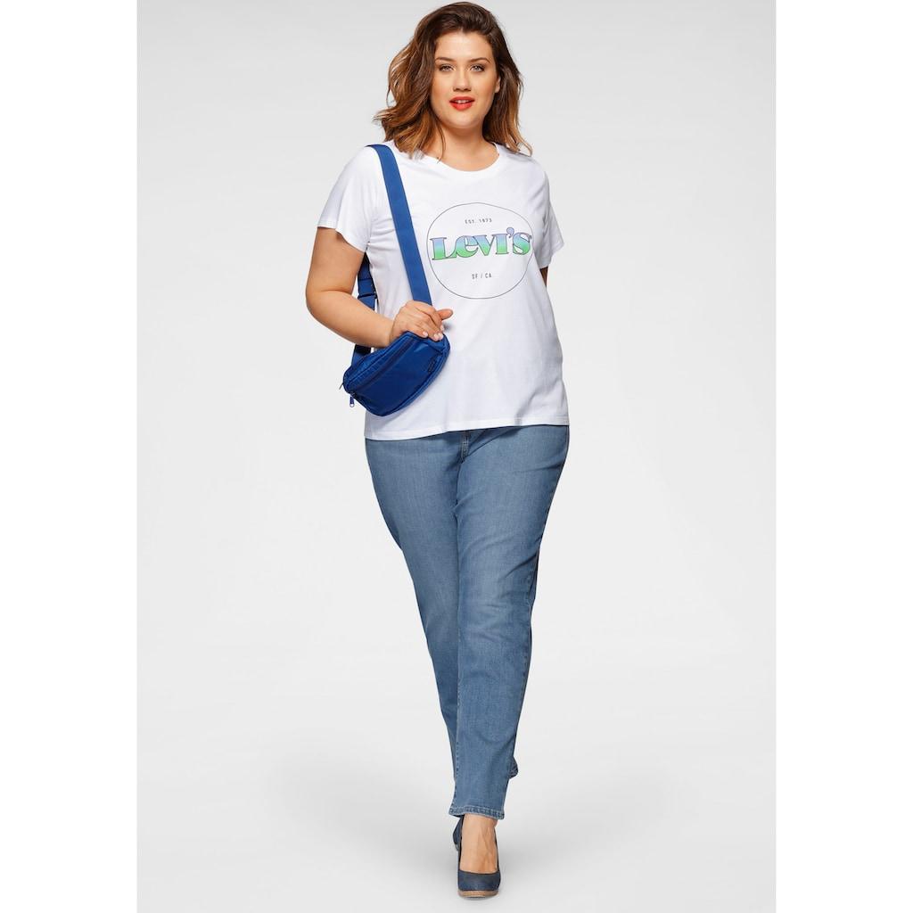 Levi's® Plus Print-Shirt »The perfect Tee«, mit buntem Levis-Logodruck