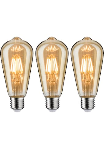 Paulmann LED-Leuchtmittel »3er Pack 6 W Vintage Rustika goldlicht E27«, E27, 3 St.,... kaufen