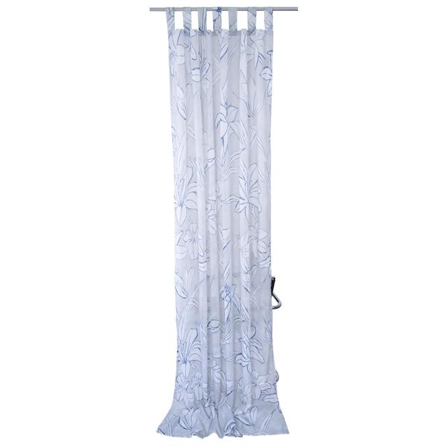 Vorhang, »BLUE FLOWERS«, TOM TAILOR, Schlaufen 1 Stück