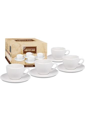 Könitz Tasse »Coffee Bar«, (Set, 8 tlg., 4 Tassen-4 Untertassen), 4 Tassen, 4 Untertassen kaufen