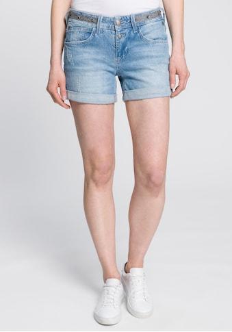 Freeman T. Porter Shorts »ROMIE«, mit Glitzerstreifen am Bund und optimaler Passform für einen Knack-Po kaufen