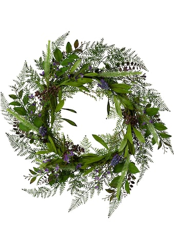 Creativ green Kunstkranz »Farn - Blüten - Mix - Kranz« (1 Stück) kaufen