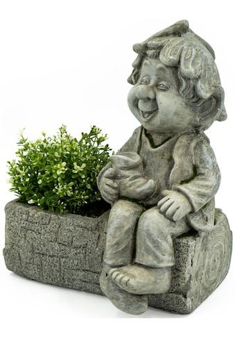 NOOR LIVING Gartenfigur »Pflanztopf mit Gnom« kaufen