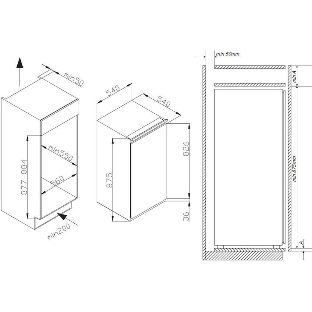 Amica Einbaugefrierschrank »EGS 16183«, 87,5 cm hoch, 54,0 cm breit