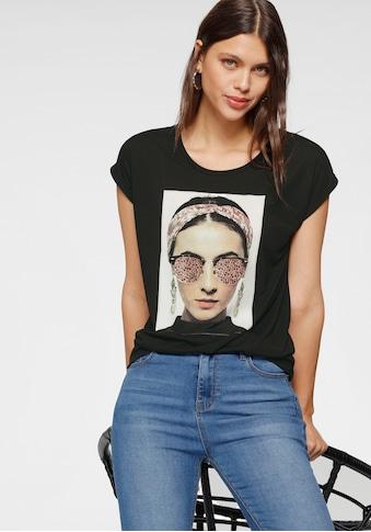 HaILY'S T-Shirt, mit Glitzerdruck und -steinen kaufen