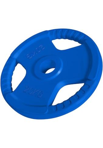 GORILLA SPORTS Hantel »Hantelscheibe 50/51 mm Olympia Gummi Gripper 20 kg«, 20 kg kaufen